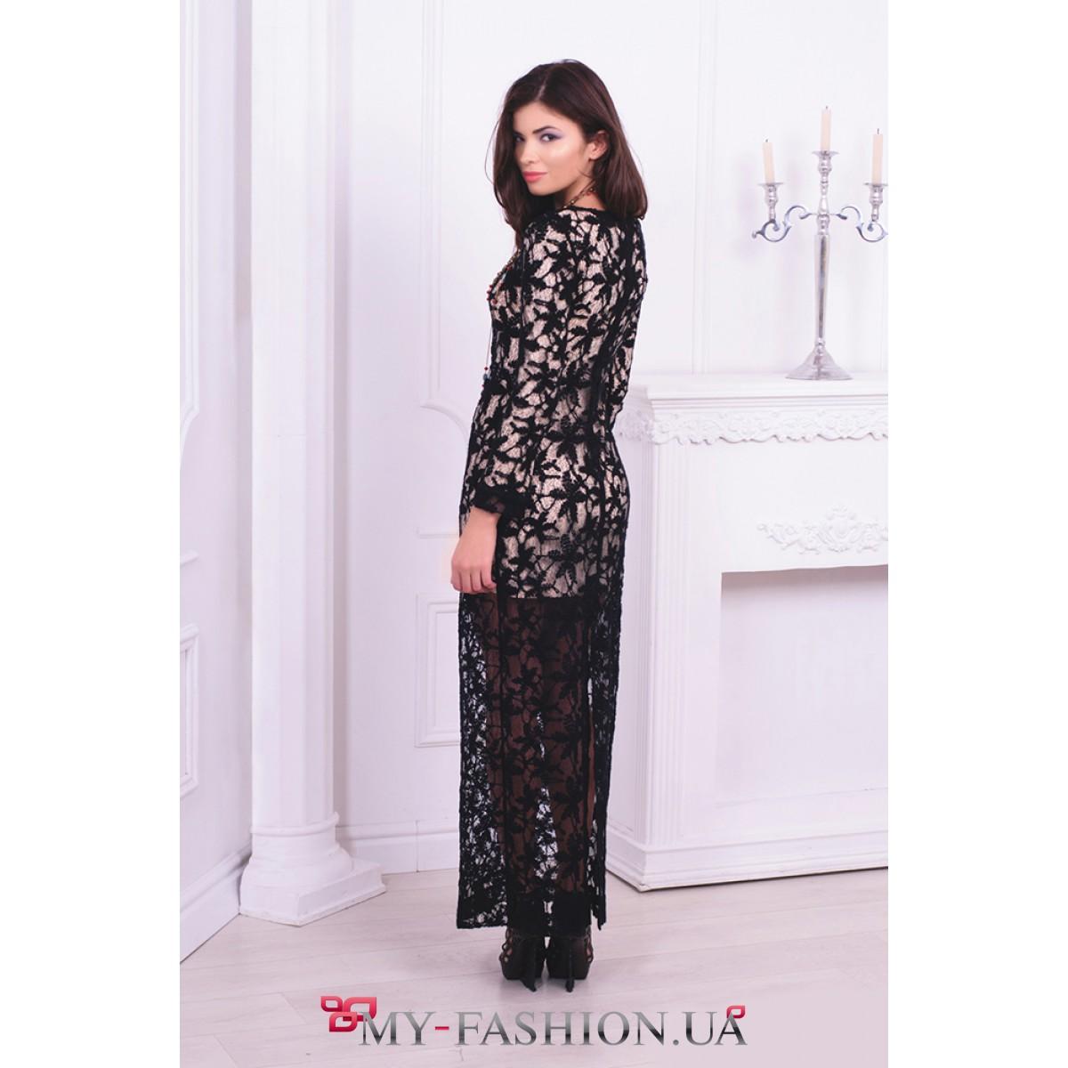 Платье Кружевное Длинное Купить В