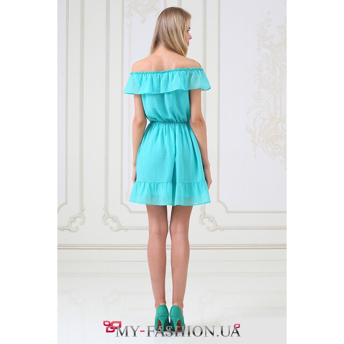 Платье цвета мяты купить недорого