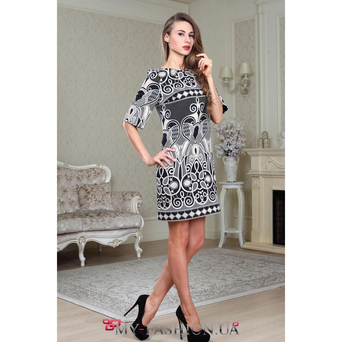Оригинальные черно-белые платья