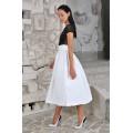 Белая универсальная юбка средней длины