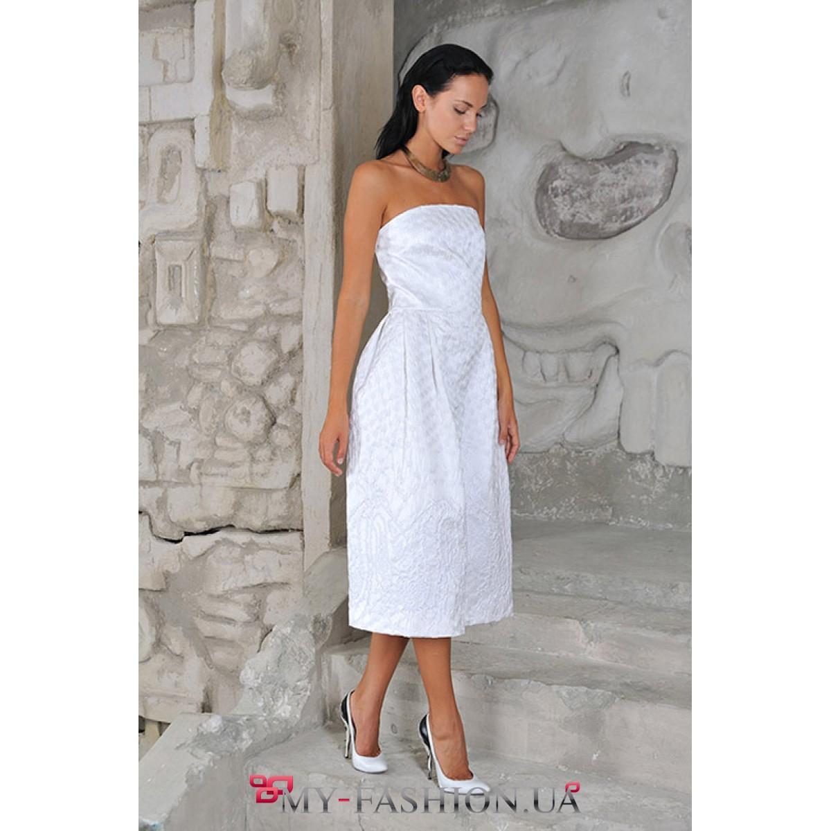 Стильное белое платье купить