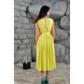 Жёлтое платье из тончайшего москрепа