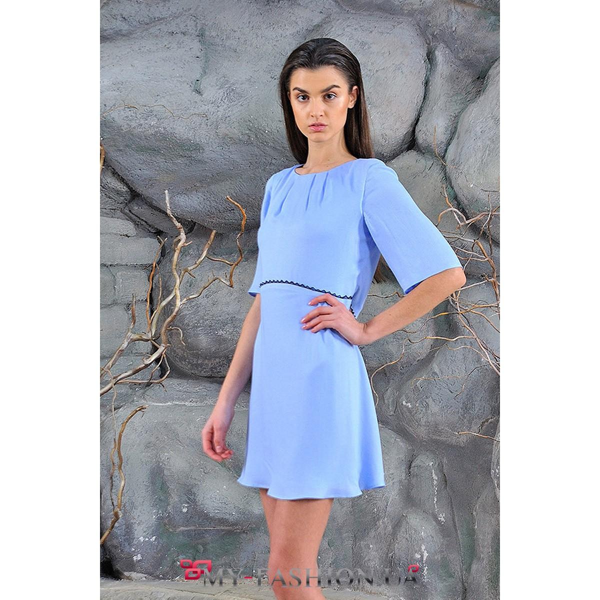 фото платья голубого цвета