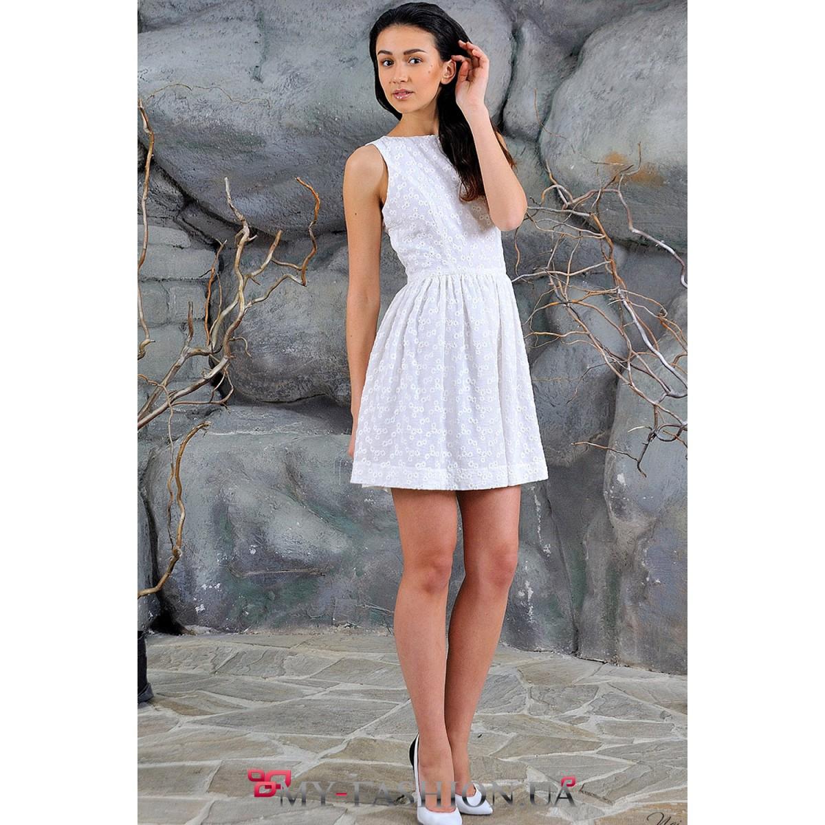 Платья молочного цвета короткие фото