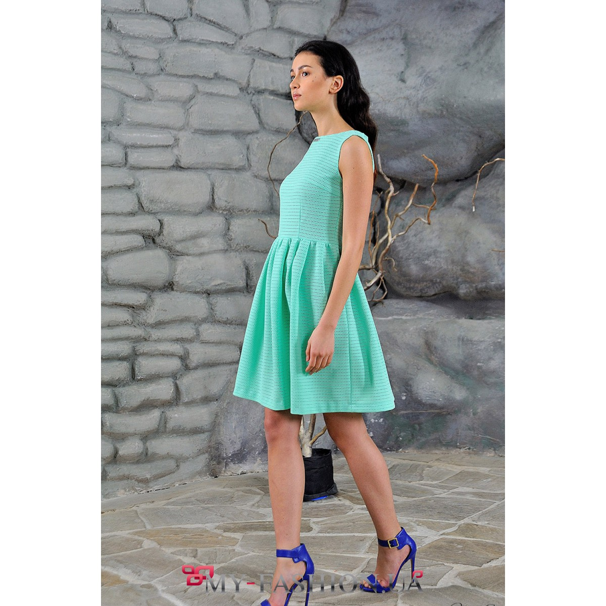 Платье цвет мятный пышная юбка