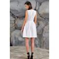 Коктейльное перфорированное платье белого цвета