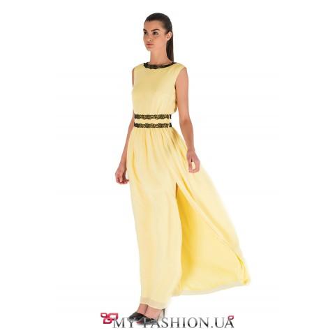 Роскошное летнее платье с открытой спиной