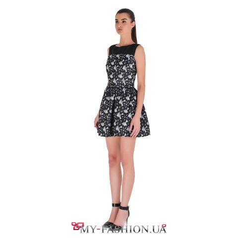 Коктейльное платье из французского жаккарда