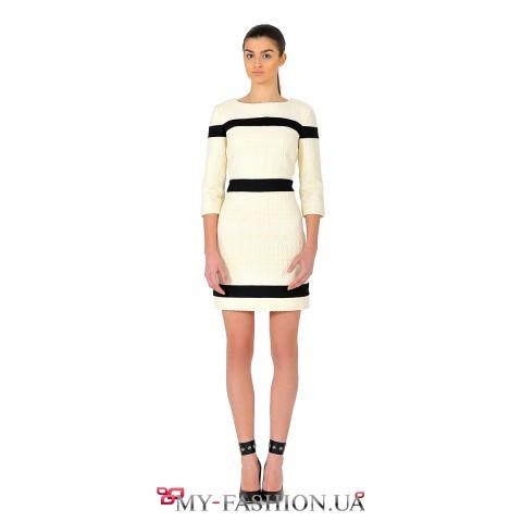 Красивое шерстяное платье для стильных девушек