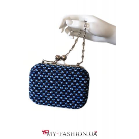 Маленькая сумка-клатч с серебристой цепочкой