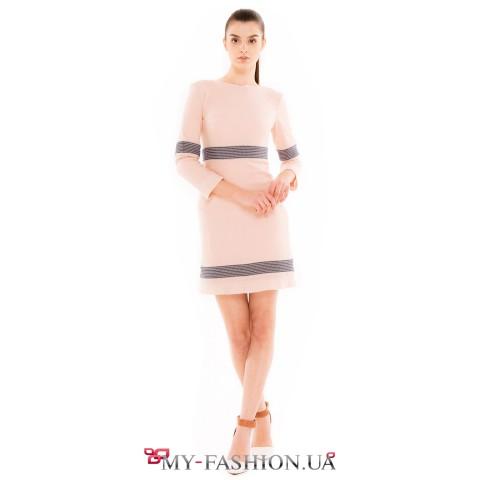 Комбинированное платье для зимнего сезона