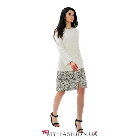 Белое женское пальто для весеннего сезона