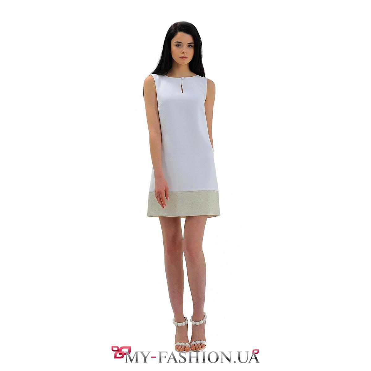 Дизайнерское платье белое