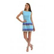 Кокетливое коктейльное платье голубого цвета