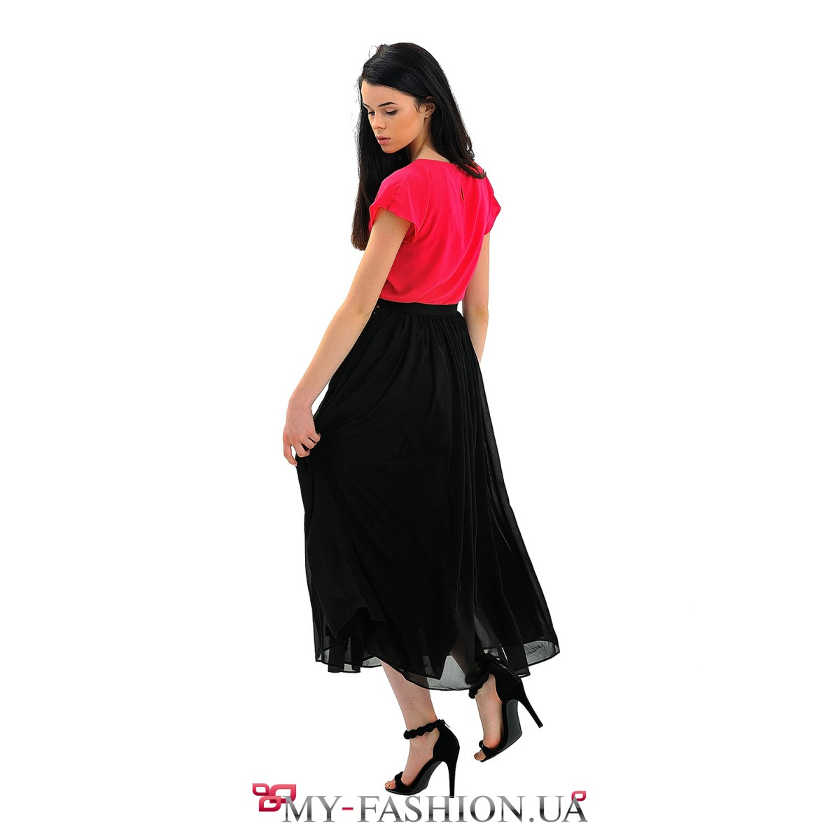 Черная юбка и черная блузка доставка