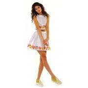 Белая хлопковая юбка средней длины