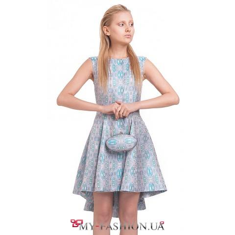 Стильное платье-жакет асимметричного кроя