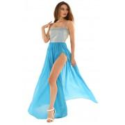 Голубое платье для выпускного вечера