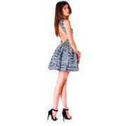 Элегантное короткое платье из французского жаккарда