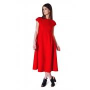 Восхитительное красное платье средней длины