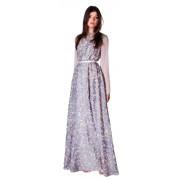Длинное вечернее платье из французского шёлка