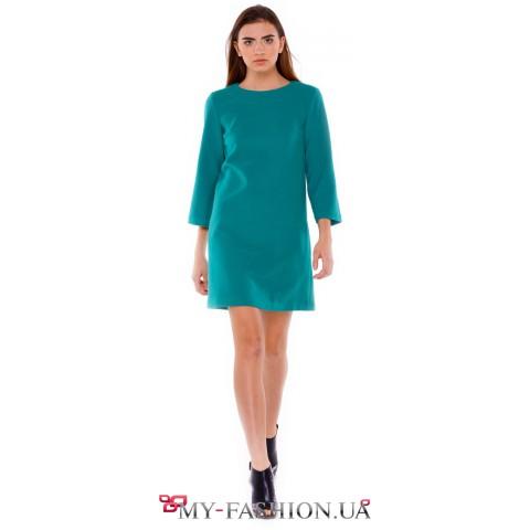 Платье из кашемира изумрудного цвета