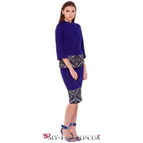 Дизайнерская юбка миди длины