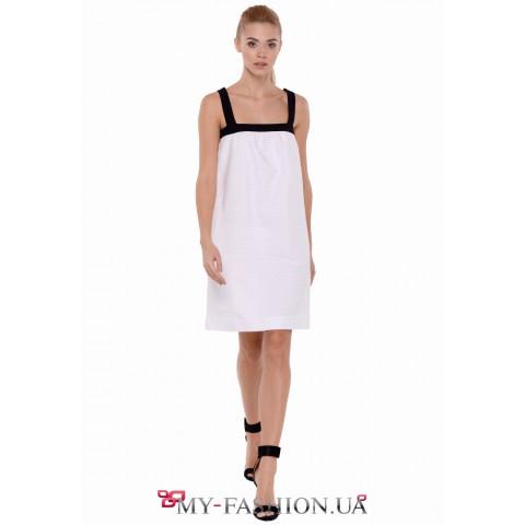 Восхитительное дизайнерское платье - шифт силуэта