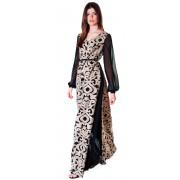 Длинное вечернее платье из французской шёлковой ткани