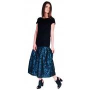 Стильное комбинированное платье свободной посадки