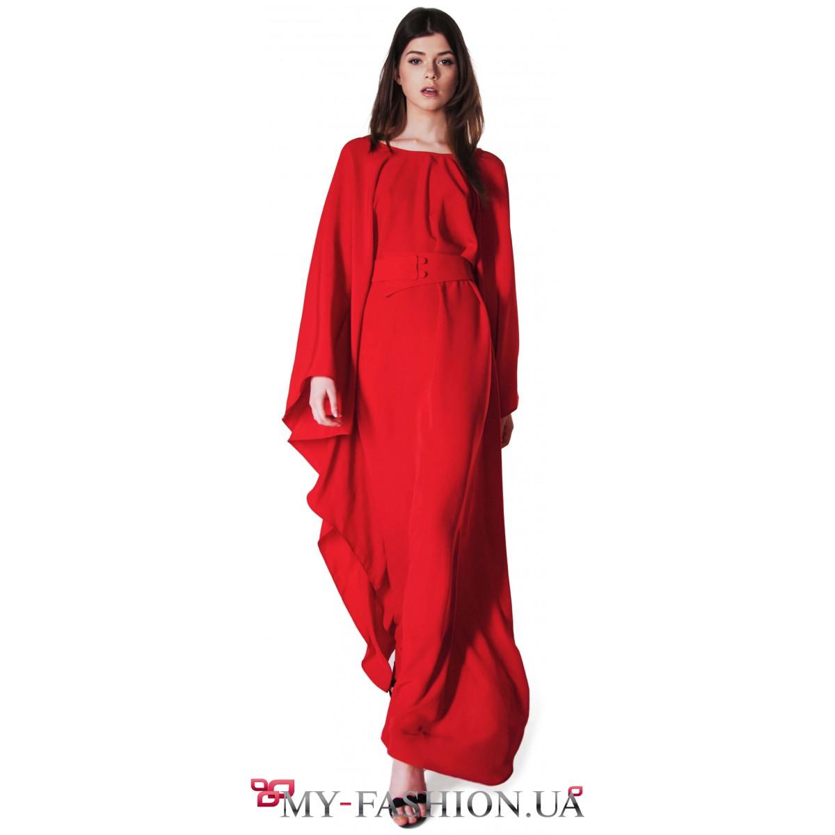 f4e60b95d9f Длинное вечернее платье необычного кроя купить в интернет магазине в ...