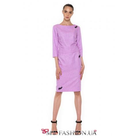 Сиреневая юбка-футляр – универсальный предмет гардероба