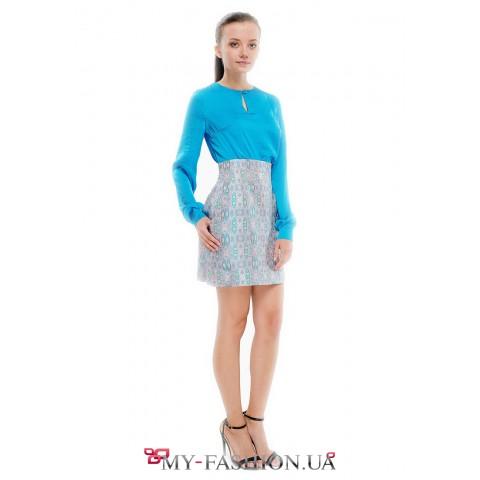Дизайнерская короткая юбка с элегантными карманами
