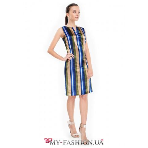 Мини платье из высококачественного атласа