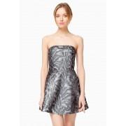 Короткое двойное платье с открытыми плечами
