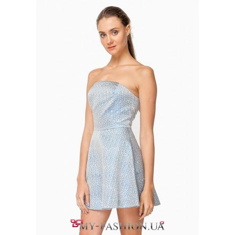 Платье двойное с бантиком