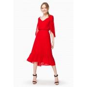 Платье алого цвета - двойное