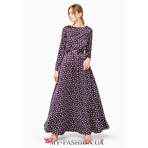 Красивое платье максимальной длины