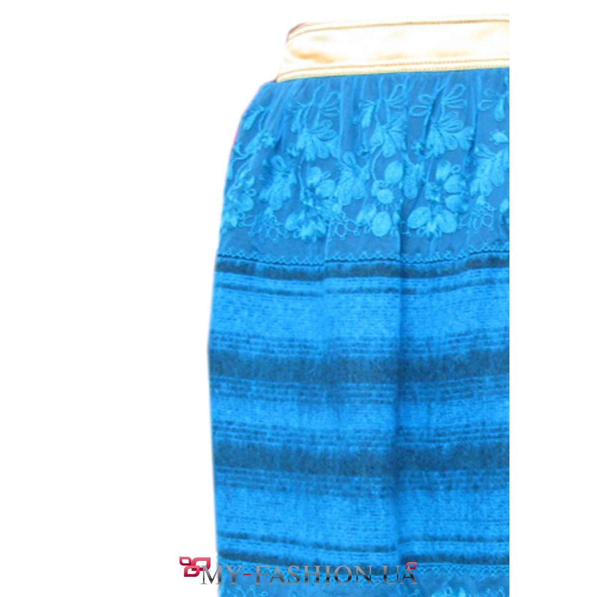 Бирюзовая юбка доставка
