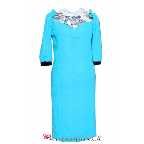 Бирюзовое вечернее платье Ocheretniy