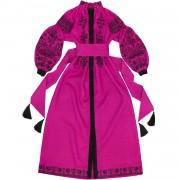 Вышитое платье цвета фуксии настоящее воплощение роскоши и стиля