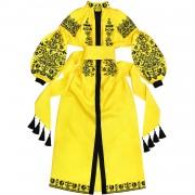 """Шикарное платье """"Птица"""" - это сочетание мотивов  вышивки"""