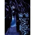 Платье из изысканного бархата с богатой аутентичной вышивкой
