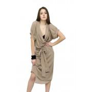 Платье с воротником- шаль
