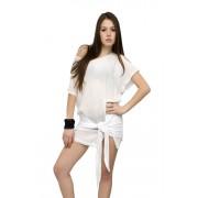 Туника белая с поясом - завязка
