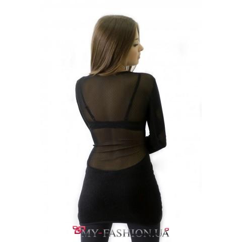 Платье с овальным вырезом спинки