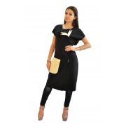 Оригинальное платье-жилет чёрного цвета