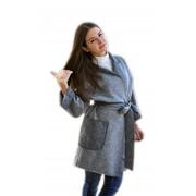 Демисезонное пальто меланжевой расцветки