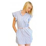 Женская летняя рубашка в узкую полоску