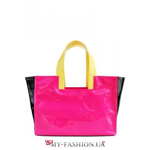 Молодёжная яркая лаковая сумка
